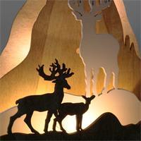 LED Lichterbild mit stimmungsvoller Atmosphäre für ein festliches Flair