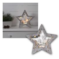 LED decoration star fauna | 24x25cm | battery operation