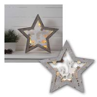 LED decoration star fauna | 32x33cm | battery operation