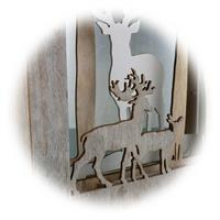 LED Weihnachtsdeko mit filigrane Holzarbeit und liebevollen Details