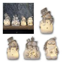 LED figures snow man/Santa Claus | white/silver | outdoor