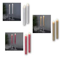 LED wax candle stick PRESSE| white/gold/red | candle holder
