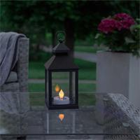 LED Gartenlaterne mit stimmungsvollen warmweißen Licht