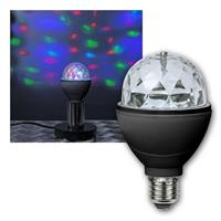 LED disco light E27 | rotating | 3W/230V | RGB