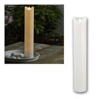 LED Kerze BIANCO weiß | 7,2x40cm | mit Timer für Außen