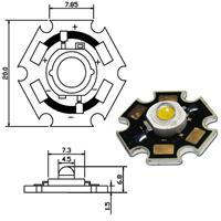 Abmessungen 3W LED Chip
