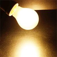 LED Leuchtmittel in warmweiß mit matter Glasabdeckung