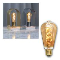 E27 LED Birne SPIRAL Filament Edison-Optik 125lm