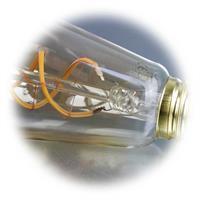LED Leuchtmittel dimmbar mit Spiral-Leuchtfaden