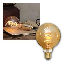 E27 LED bulb | SPIRAL | Filament | ball Ø95mm | 130lm
