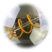 LED Lampe mit Anordnung der SMD LEDs in Spiralform