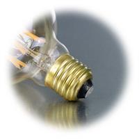 LED Glühbirne Filament mit Sockel E27 für 230V