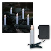 LED Christbaumkerzen mit 16 Kerzen | Batterie/Timer, grün