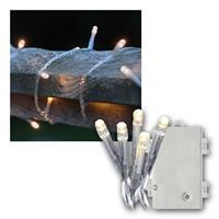 LED Lichterkette 2,8m | Batterie/Timer, transparent | IP44