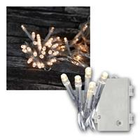 LED Lichterkette 5,6m | Batterie/Timer, transparent | IP44