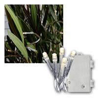LED Lichterkette 11m | Batterie/Timer, transparent | IP44