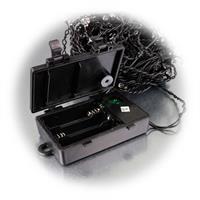 LED Lichtvorhang mit schwarzem Kabel und Batteriebetrieb