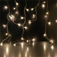 Warmweißer LED Eisregen für innen und außen
