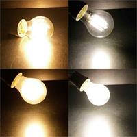 Filamentbirne mit warmweißem oder neutralweißem Licht