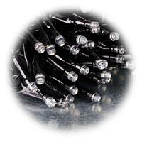 LED Lichterkette mit 100 LEDs auf 10m Länge mit schwarzem Kabel