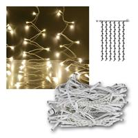 Light curtain, white cable, IP44, System Decor, warm white
