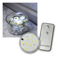 LED water candle | remote control | warmwhite | 7x2,5cm