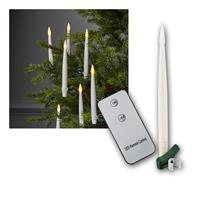 Christbaumkerzen 10er Set LED Fernbedienung &Clips