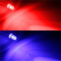2-farbige LEDs in Rot/Blau