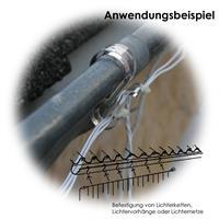 Halteclips zur Montage an Dachrinnen, Geländern oder Ähnlichen