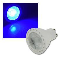 LED Strahler | GU10 | LDS-50 | blau | 38° | 230V/5W |  80lm