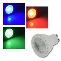 LED Strahler GU10 LDS-50 | rot/grün/blau | 230V/50Hz | 38°