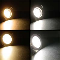 Flache Einbauleuchte in 2 Gehäuse- und 2 Lichtfarben
