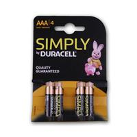 Duracell OEM-AAA alkaline battery pack of 4, LR03
