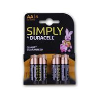 Duracell OEM-AA Alkaline-Batterie 4er Pack, LR06