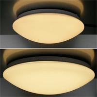 Dimmbare Deckenleuchte mit 12 oder 20W warmweißen LEDs