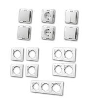 FLAIR Set hallway with doorbell button | 13 pieces, white