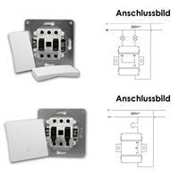 FLAIR Serienschalter und FLAIR Klingeltaster weiß, 250V~/10A