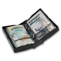 kleiner und kompakter Erste-Hilfe-Kasten ist aufklappbar wie ein Buch