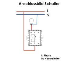Feuchtraum Wechsel-Schalter, IP44 250V~/ 10A