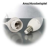 Neutralweiße LED- Kerzenlampe mit E14-Sockel