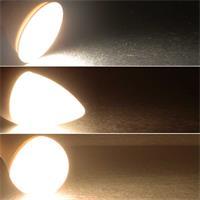 In 3 Stufen per Lichtschalter dimmbares LED Leuchtmittel