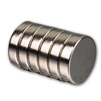6er Set Neodymiummagnete | 12x3mm | rund | Supermagnet