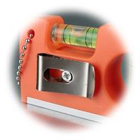 Miniwasserwaage mit Clip zum Befestigen am Gürtel