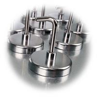 10er Set verchromte Magnete mit Haken