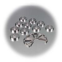 Hakenmagnete mit Chromblende, 10 Stück