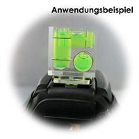 Kamera-Wasserwaage mti 3 Achsen und Blitzschuh