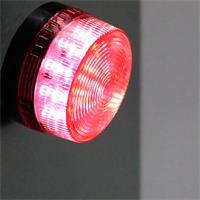 Rote Signalleuchte mit 15 sehr hellen LEDs und Blitzfunktion