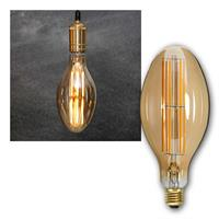 E27 LED bulb filament | Ø100mm, 6.5W, 400lm | dimmable