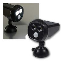 LED solar spotlight with motion detector | 4200K, IP44