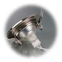 12V LED Leuchtmittel mit MR16-Lampenfassung wird via Sprengring befestigt